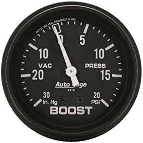 Auto Meter 3403 2-5//8 Mechanical Vacuum//Boost Gauge