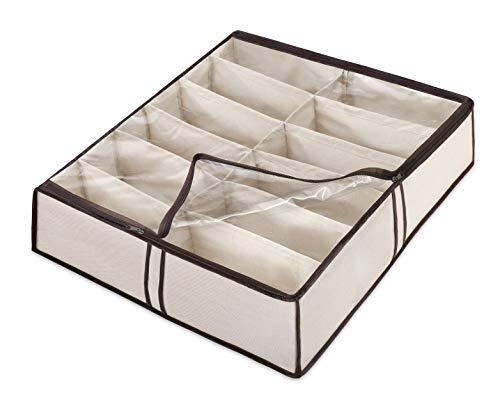 Whitmor zapatera para 12 pares, almacenaje debajo de la cama