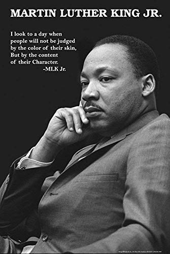 (Studio B Laminated Martin Luther King Jr. Character Poster 24x36)