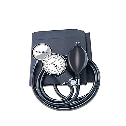 Dr.odin Aneroid Sphygmomanometer With Single Head Stethoscope, Latex Bladder, Bulb & Adult Size Cuff With D-ring (Black) Price & Reviews