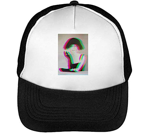 Retro Lady Gorras Hombre Snapback Beisbol Negro Blanco