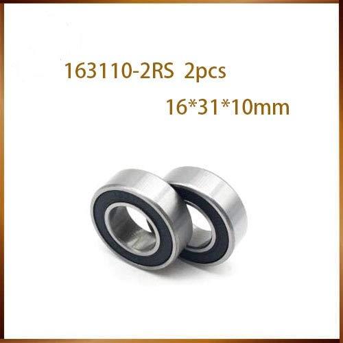 Ochoos 2pcs 163110-2RS 163110 Ball Bearing 16x31x10mm 163110 2RS Bike axis Repair Bearing unstandard 6002-2RS