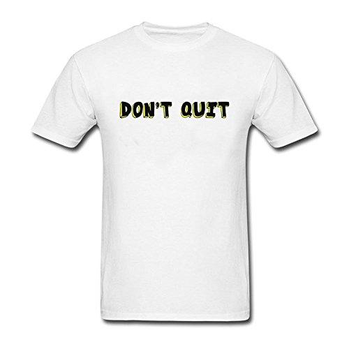 QLJYKJ Men Do It Don't Quit Round Neck T Shrit XL White