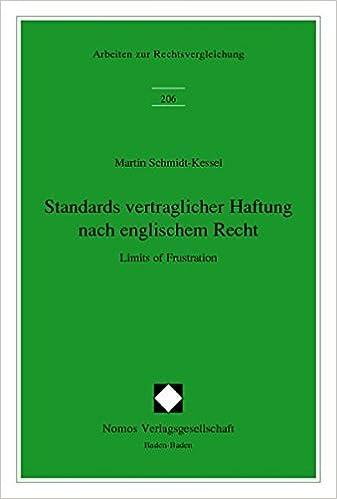 Standards vertraglicher Haftung nach englischem Recht: Limits of ...