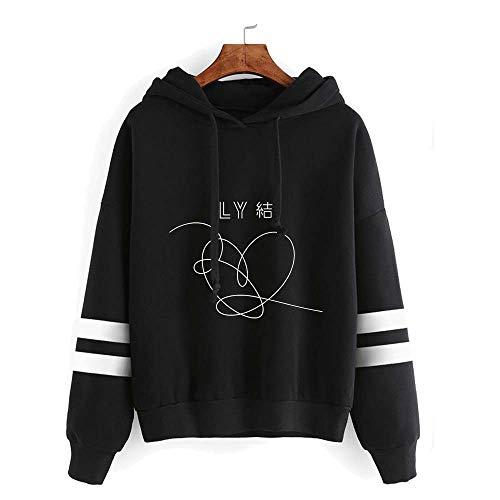 - BTS Hoodies New Ablum Love Yourself 結 'Answer'Sweatshirt Suga Jimin Jungkook V RM Jimin Sweater Jacket Pullover (XXL, black1)