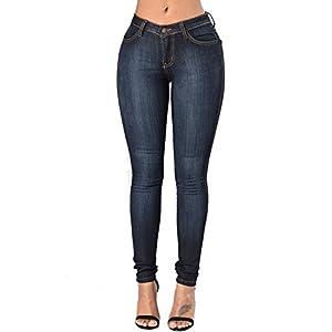 AKEWEI Women's Skinny Jean Leggings,High Waisted Stretch Slim Denim Butt Lift Super Comfy Jeggings