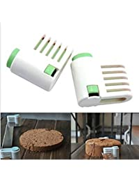 Buy 2Pcs DIY Tools 5 Layers Kitchen Cake Bread Cutter Leveler Slicer Cutting Fixator deal