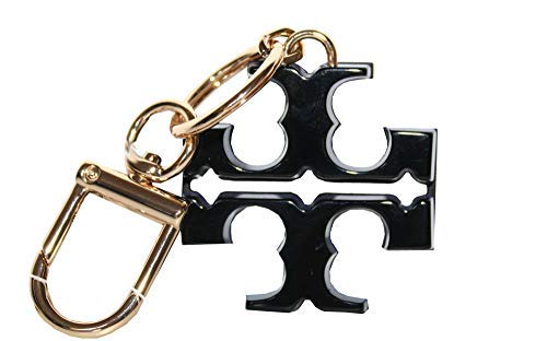 Tory Burch Resin T Logo Keyfob Key chain 52913 (Black/Sonic blue) (Keychain Tory Burch)