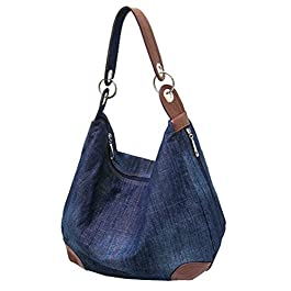 Dreams Mall(TM) Women's Handbag Purse Hobo Tote Top Handle Shoulder Crossbody Bags Denim