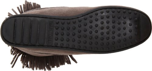 Minnetonka Doublefringetramperboot, Mocasines para Mujer Gris (Oild Antique 53)