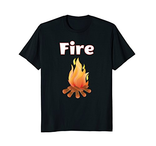 Mens Matching Couple Halloween Costume T-Shirts - Fire and Ice Large (Fire And Ice Couples Costume)