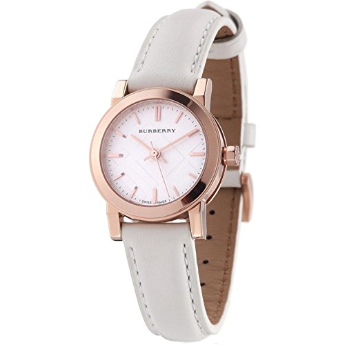 Burberry Bu9209 Rose Gold White Dial Ladies - Anniversary Burberry