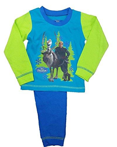 Licensed Little Boys' BNWT Official Frozen Long Sleeve Pyjamas Pjs 2-3 Years Green