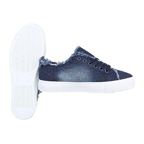 Ital-Design - Zapatillas de casa Mujer Blau 7864
