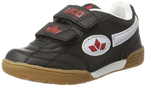 Lico Bernie V, Zapatillas Deportivas para Interior Unisex Niños Negro (Schwarz/Weiss/Rot)