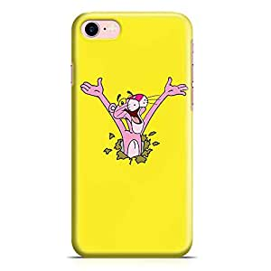 Loud Universe Pink Panther iPhone 7 Case Surprise Pink Panther Yellow iPhone 7 Cover with 3d Wrap around Edges