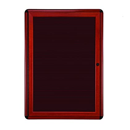 Image of Changeable Letter Boards Ghent 2 3/4' x 2' Ovation Letter Board, Burgundy, Cherry Wood Look Finish/Black Corners (OVMCB1-BBG)