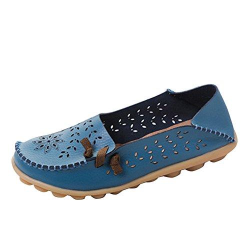 Blivener Casual Damesschoenen Holle Platte Schoenen Zomerse Pantoffels Lichtblauw