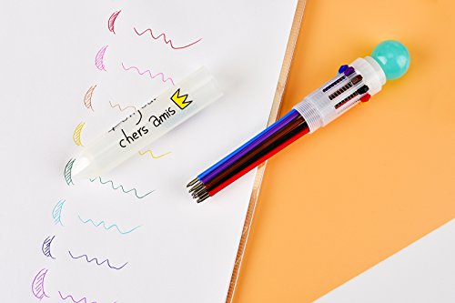 10-in-1 Retractable Ballpoint Pen,Multi-functional Pen,Multicolor Pens for Office School Supplies Students Children Gift,Use this as party gift,birthday gift, holiday gift,Pack of 6 pcs 0.5mm by MAGO (Image #6)