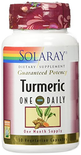 Solaray Guaranteed Potency Turmeric Root Extract One Daily 600 mg VCapsules, 30 Count (Extract Turmeric Root)