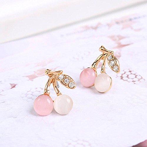 Crystal Rhinestone Opal Stone Ear Stud Earring for Women Girls Jewelry Wedding
