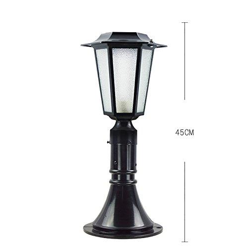 Lampada da parete solare   parete   lampada da parete   cortile recinto a colonna lampada   lampada da parete impermeabile villa   lampada da esterno   lampada da esterni europea , solar 45cm nero