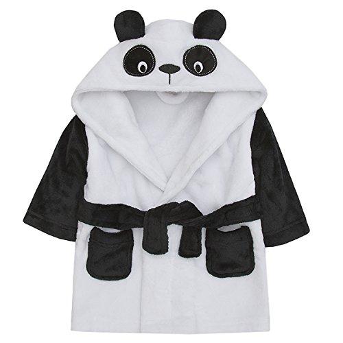Babytown Unisex Baby Boys and Girls Animal Themed Dressing Robes - Bear Bath Panda
