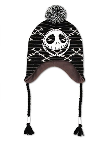 Nightmare Before Christmas Hat (The Nightmare Before Christmas Jack Beanie Hat with Braids)