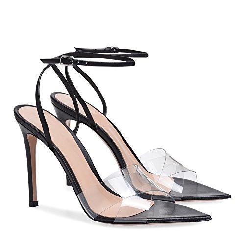 Formal de de Cuero de de Sandalias Mujer caída Verano Negro de Tacón la la de para de Zapatos Peep Color Club Zapatos Aguja Caminar sintético Shoes la Novedad 34 tamaño PU Comodidad Zapatos dI7zdqxF