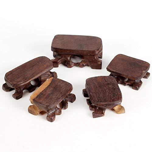 ZAMTAC TZ Zhai Solid Wood Ebony Rosewood Base with Shaped Base seat Ring Trench Wooden Jade - Wood Seat Ebony