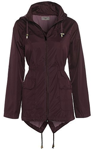 SS7 Women's Raincoat, Burgundy, Navy, Sizes 8 to 16 (UK - 12, Burgundy)
