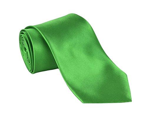 Dabung- Men's Necktie Solid Colors, Men Fashion Tie Polyester Ties 57 x 3.5 in - - Tie Shiny
