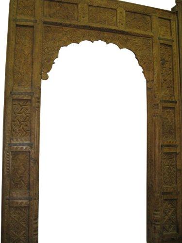 Antique Teak Carved Door Frame Arch Carved Jharokha Doorway 104X73 ...