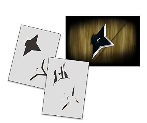 UMR-Design AS-267 Ninja Star Airbrushstencil Step by Step Size M]()