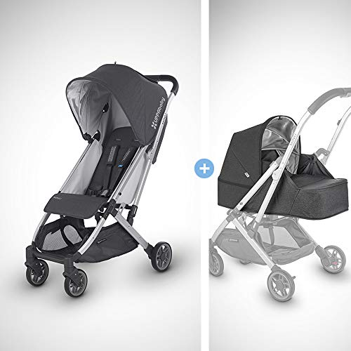 UPPAbaby MINU Stroller +from Birth Kit - Jordan (Charcoal Melange/Silver/Black Leather)