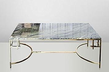 Casa Padrino Art Deco Couchtisch Gold Metall/Marmor 130 x 70 cm ...
