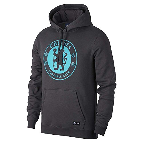 NIKE Chelsea Crest Hoodie (Anthracite/Omega Blue) – DiZiSports Store