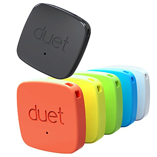 PROTAG Duet Bluetooth Tracker - Retail Packaging - Black/White/Blue/Green/Yellow/Red by PROTAG