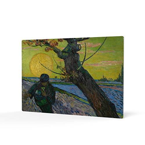 HB Art Design The Sower with Setting Sun, 1888 Vincent Van Gogh Metal Print Wall Art Living Room Office Bedroom Decor Artwork Classic Modern Art Ready to Hang Made in The USA 20x30 (The Sower With Setting Sun Van Gogh)