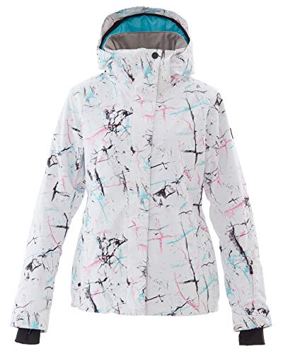 - Women's Ski Jacket Outdoor Waterproof Windproof Coat Snowboard Mountain Rain Jacket SJW077 Line XS