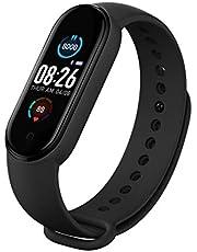 M5 Smart klocka, sport fitnessband, aktivitetsmätare pulsklocka blodtryck, kalorier stegräknare, vattentätt smart band sportarmband för vuxna/barn