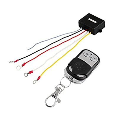 Qiorange 15m 12V 12 Volt Wireless Remote Control Kit for Truck Jeep ATV Winch?With indicator light