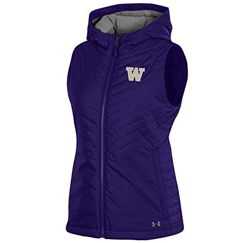 (Under Armour NCAA Washington Huskies Women's Puffer Vest Sports Fan Outerwear Jackets, Large, Purple)