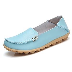 VenusCelia Women's Natural Comfort Walking Flat Loafer(8 B(M) US,Aquamarine)