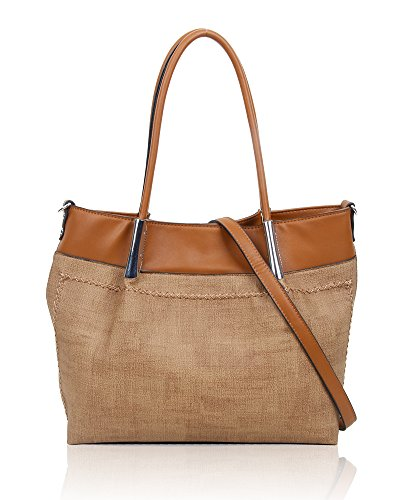SwankySwans - Suzie Faux Leather Handbag, Borse Tote Donna Marrone (Brown)