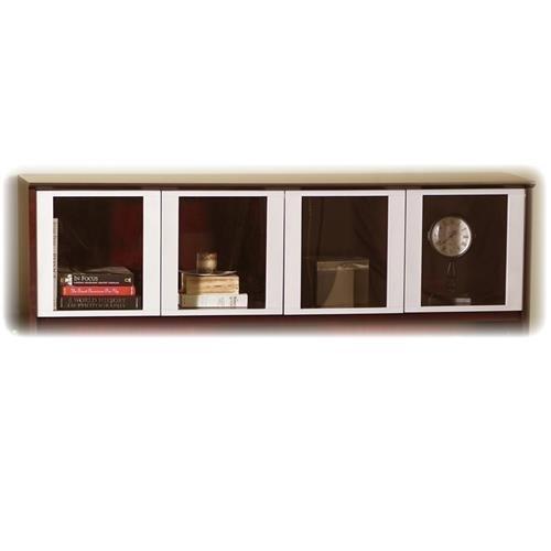 Mayline Glass Doors, f/ Hutch, 71-3/4''x15''x38-1/2'', Silver by Mayline
