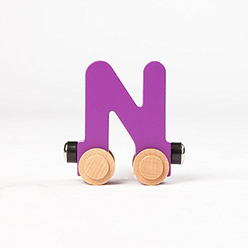 Magnetic Alphabet Train - Fat Brain Toys Spell-Your-Name Alphabet Railroad - Letter N