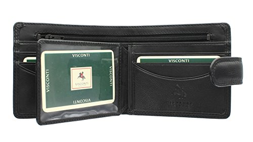 Wallet Tab Heritage Collection Closure Gents HT9 With Black Visconti Leather Black SLOAN qUXBOwwxT