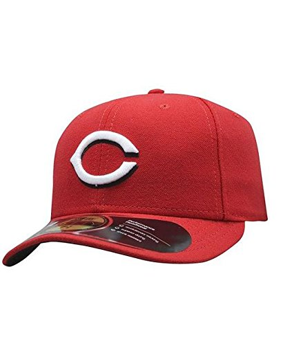 New Era MLB Cincinnati Reds Youth Home AC On Field 59Fifty Fitted Cap, Scarlet, 6 3/4