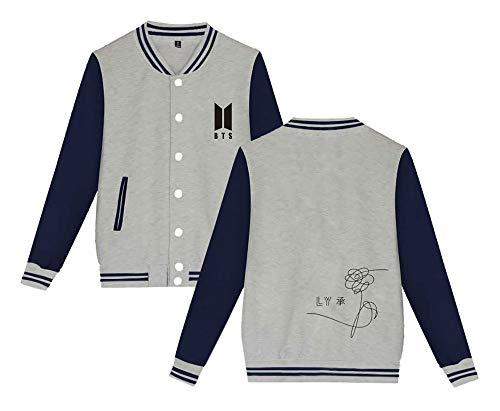 Baseball Sweatshirt Moda Invernale Uomini Giacca Outwear Casual Da Per Grey Maglietta Autunno Donne Yourself Manica Bts E Popolare Cappotto Elekikil Lunga Love 8qRwYTwU